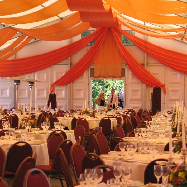 decorating tents and awnings